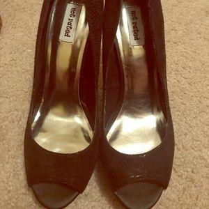 New peep toe heels